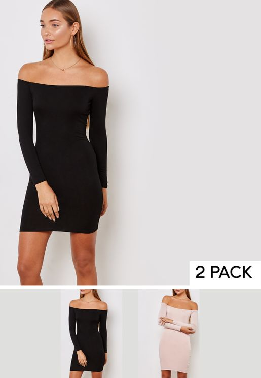 2 Pack Bardot Jersey Dress
