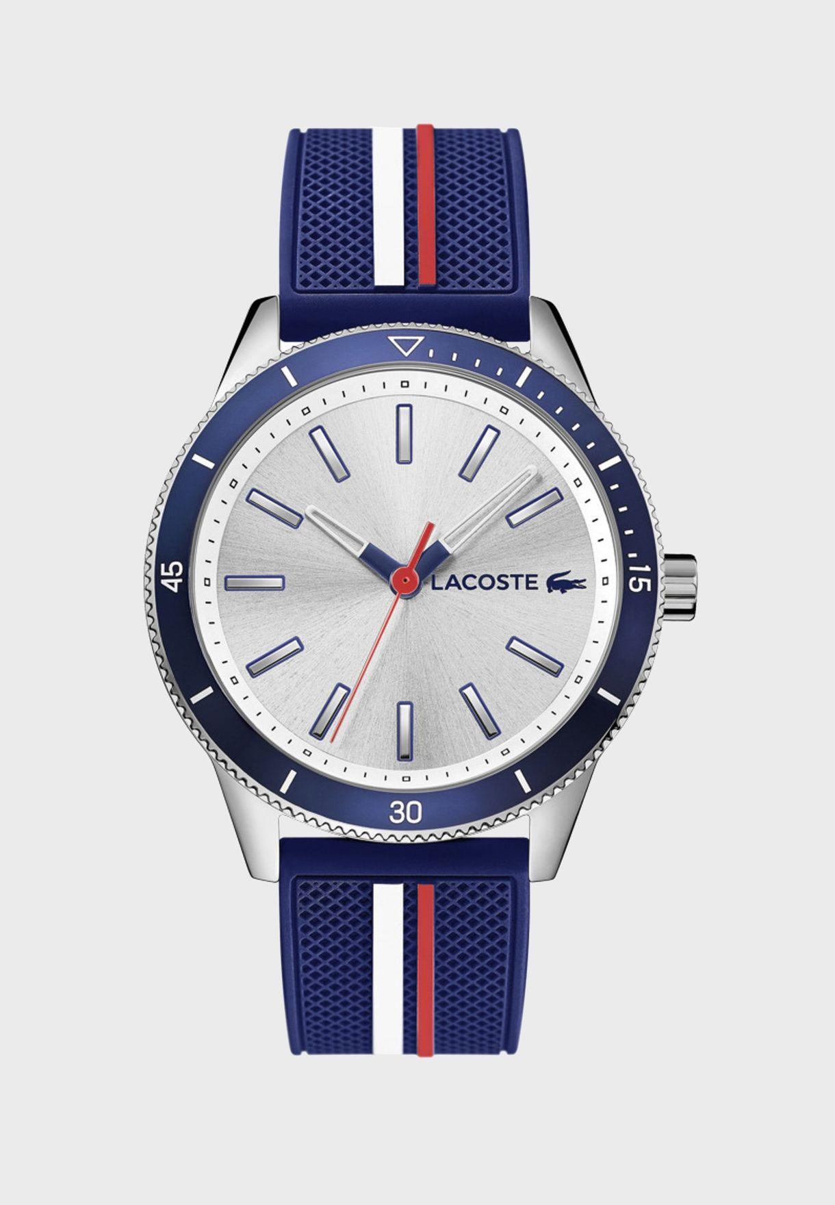 ساعة لاكوست كي ويست بسوار سيليكون للرجال - 2011006