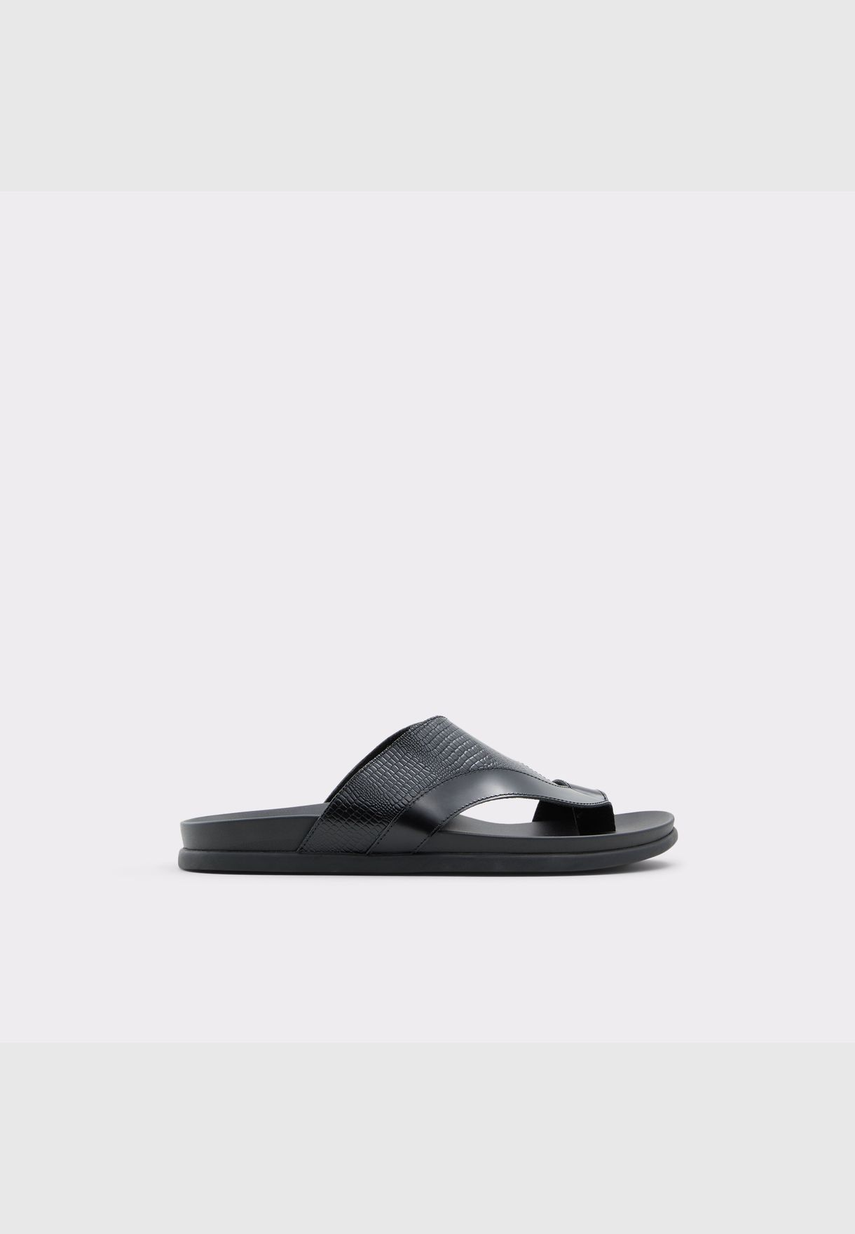 ALDO ROELANDS Men Genuine Leather Sandal Flat Heel Euro 46 Black