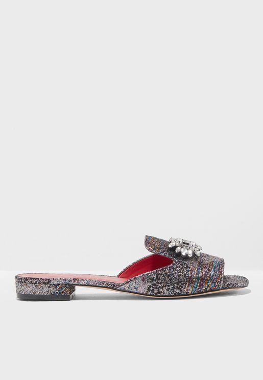 Open Toe Flat Sandals