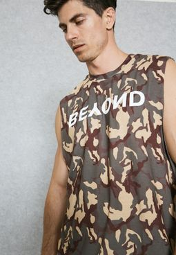 Abstract Camo Vest