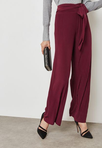 Wide Leg Tie Waist Pants
