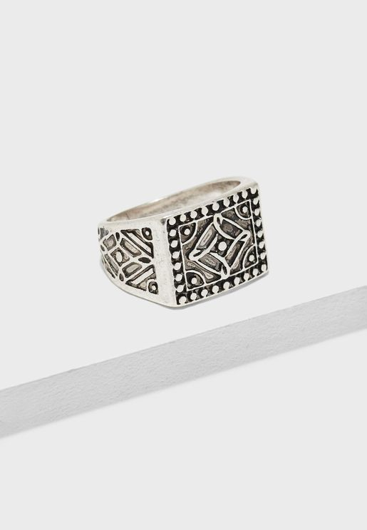 Casual Texture Ring