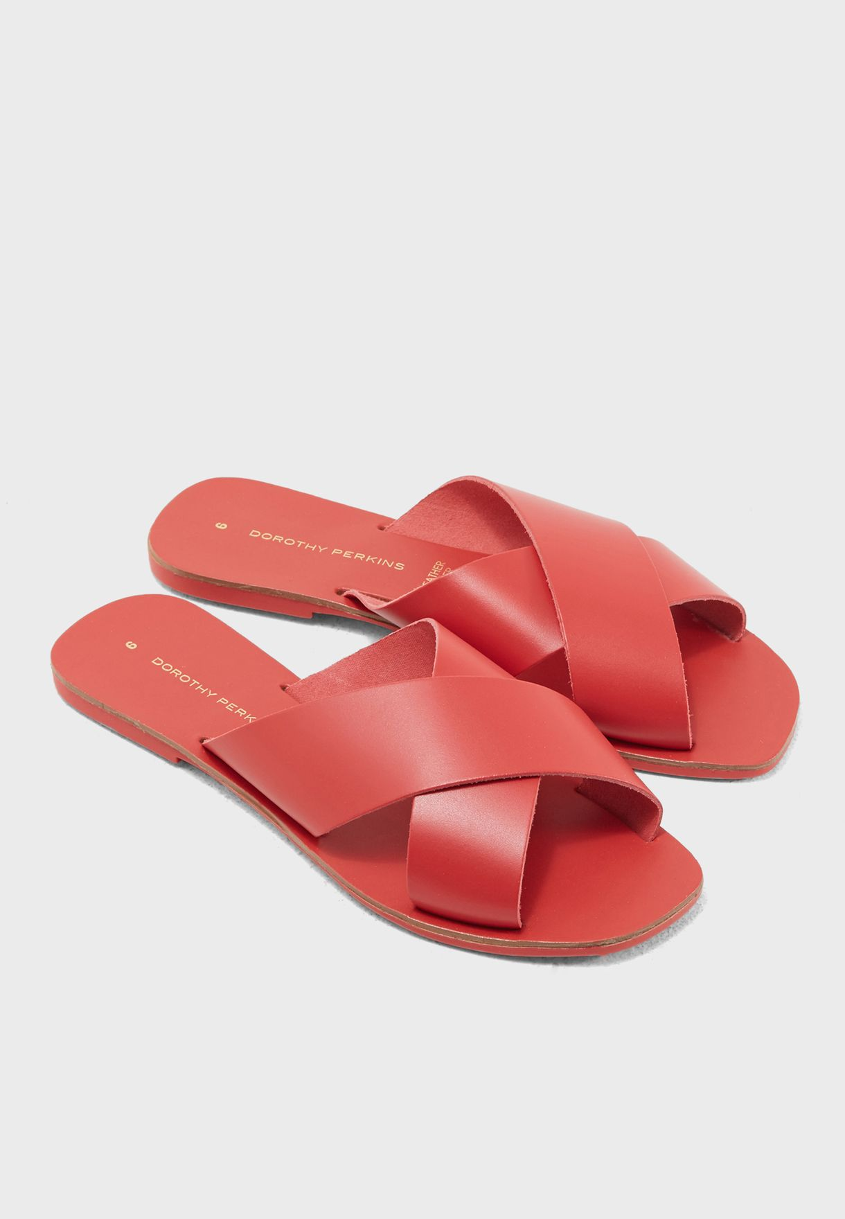 a79b222821f9 Shop Dorothy Perkins red Cross Strap Sandal 19131760 for Women in ...