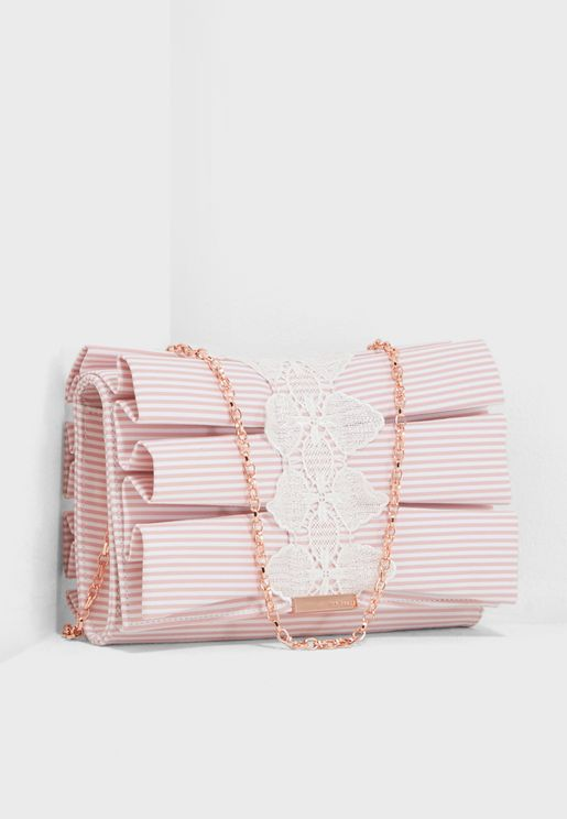Biancca Pleat Bow Crossbody