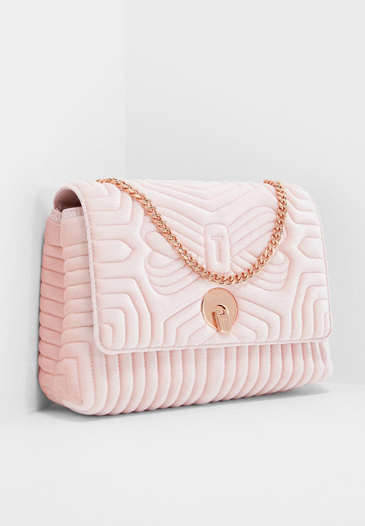 1813fcd672f Shop Ted baker pink Quilted Velvet Crossbody XBH3/RACHILA for Women ...