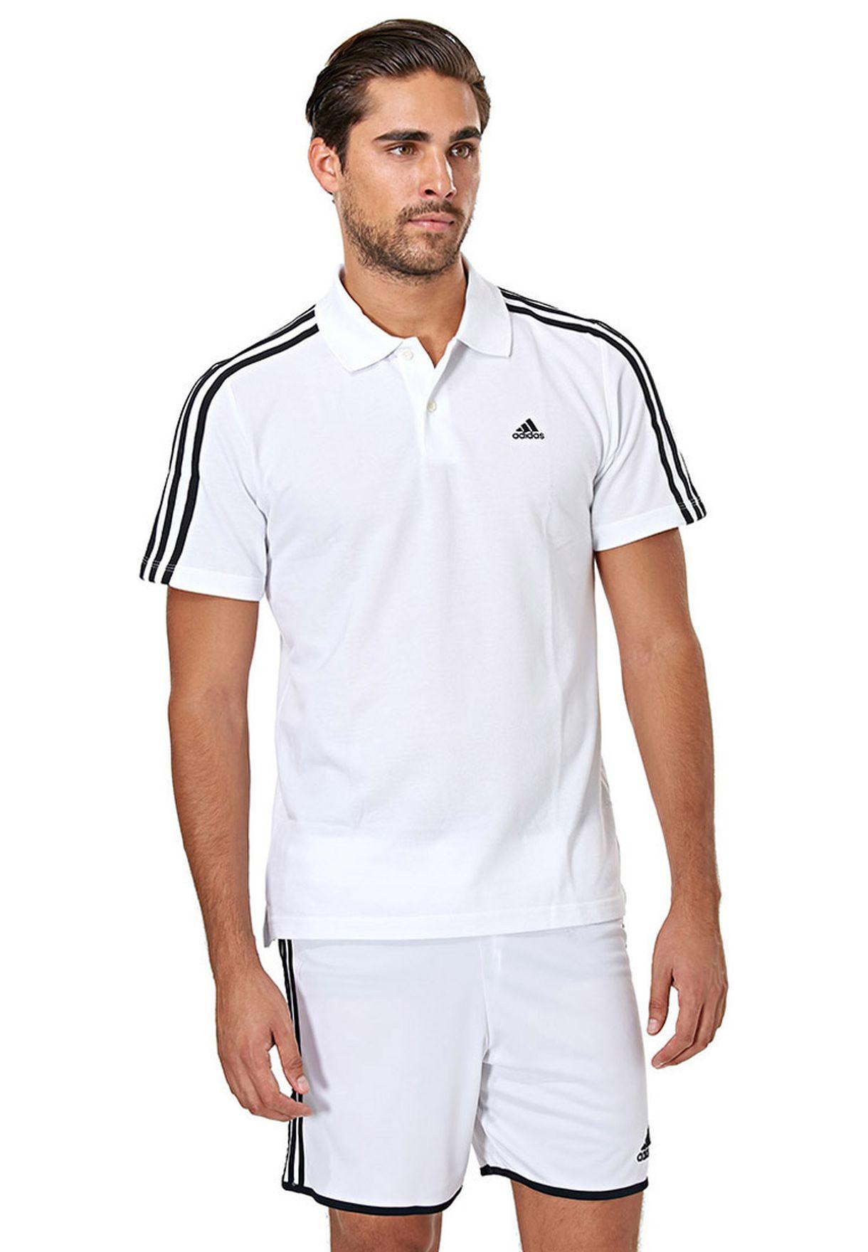 infierno encanto radiador  Buy adidas white Ess 3S Polo for Men in MENA, Worldwide | X19165