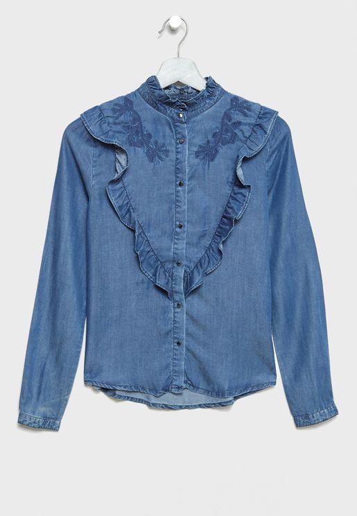 Teen Frill Detail Shirt