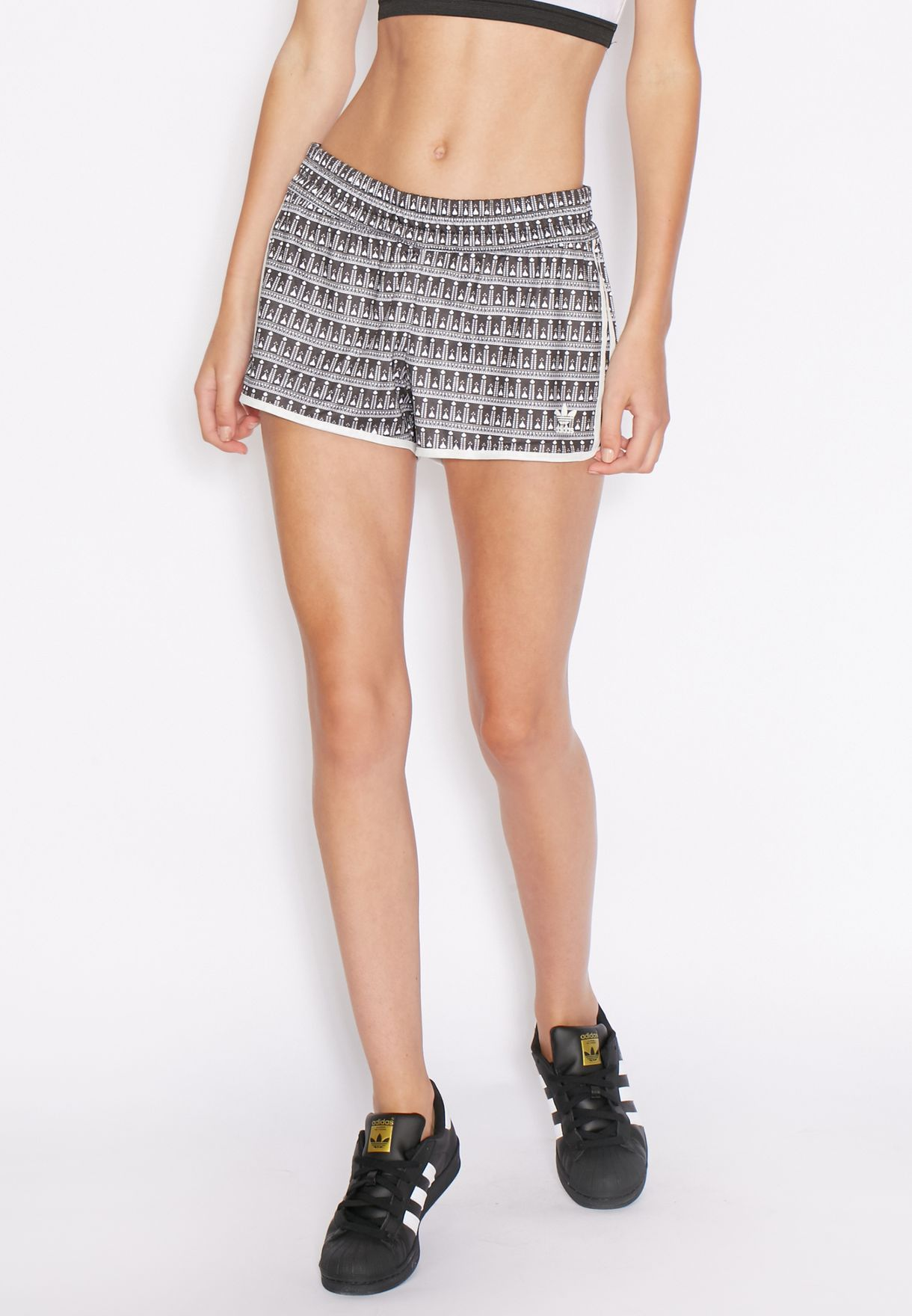 dc8aa5c73d0f75 Shop adidas Originals grey Pavao Shorts AY6878 for Women in UAE ...