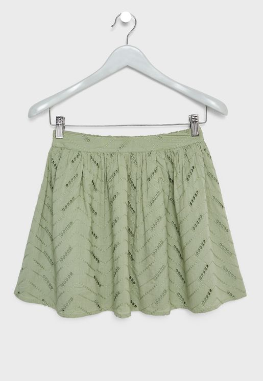 Teen Embroidered Skirt