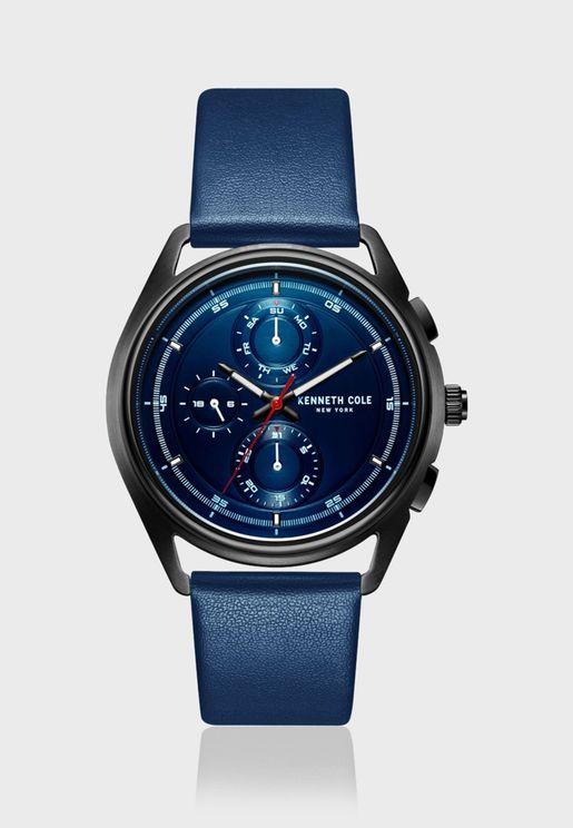 كينيث كول ساعة كلاسيك بسوار جلدي للرجال - KC51028001