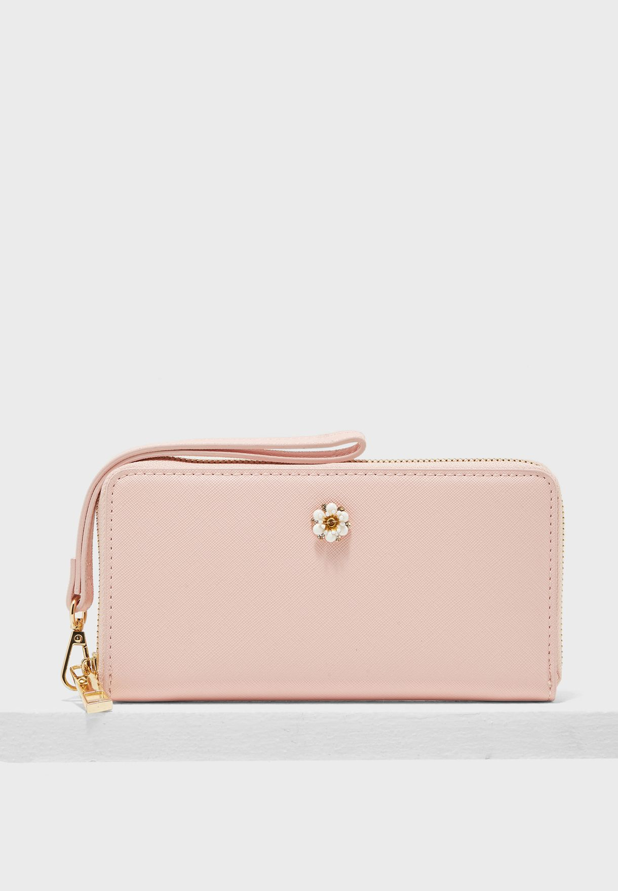 ba358dc3bfbc Shop Aldo pink Zip Around Purse PAVOT55 for Women in Saudi ...
