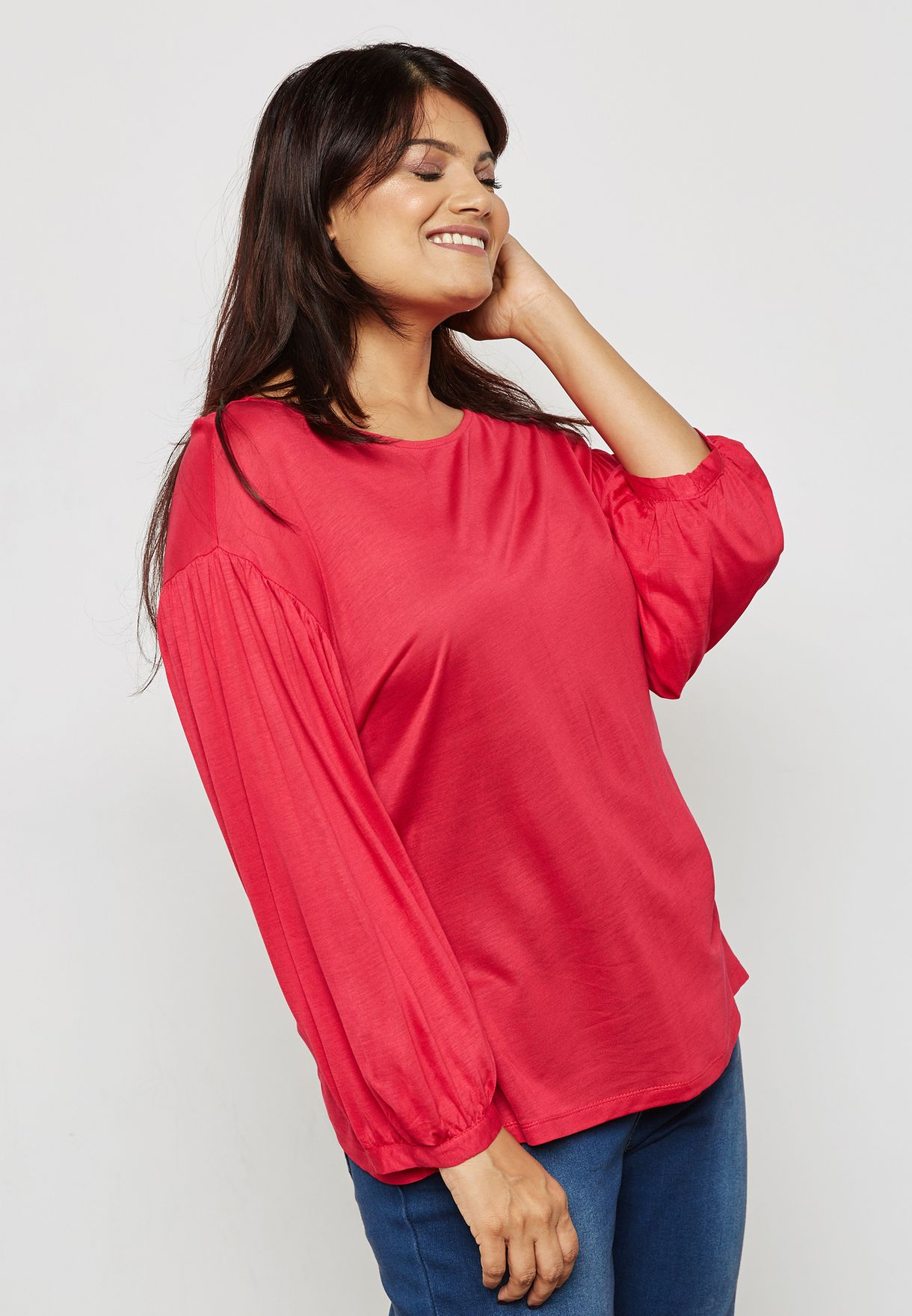 Cuffed Sleeve T-Shirt