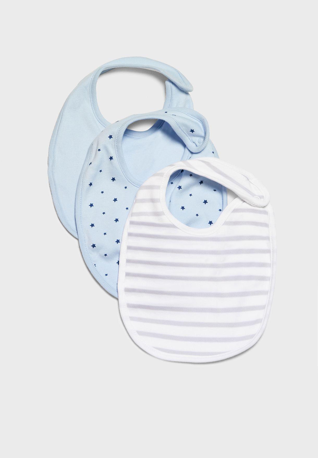 Infant 3 Pack Bibs Set