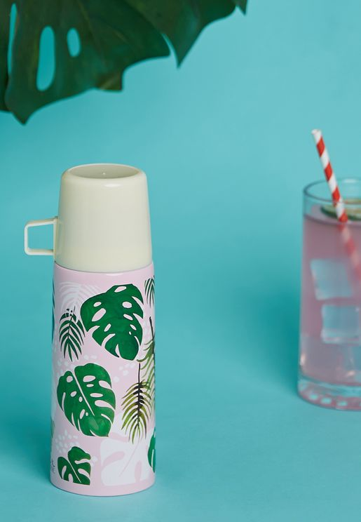 Tropical Palm Flask And Cup