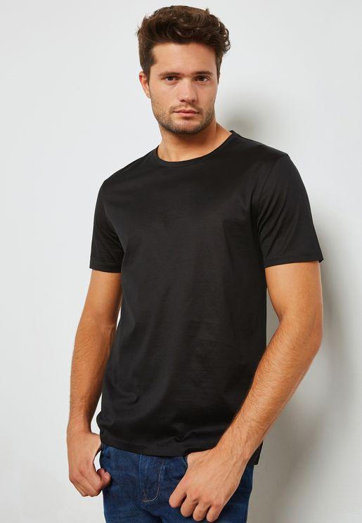 Mercerized Crew Neck T-Shirt