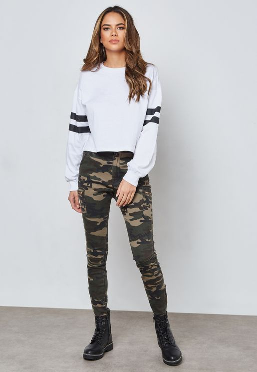 Camo Print Pants