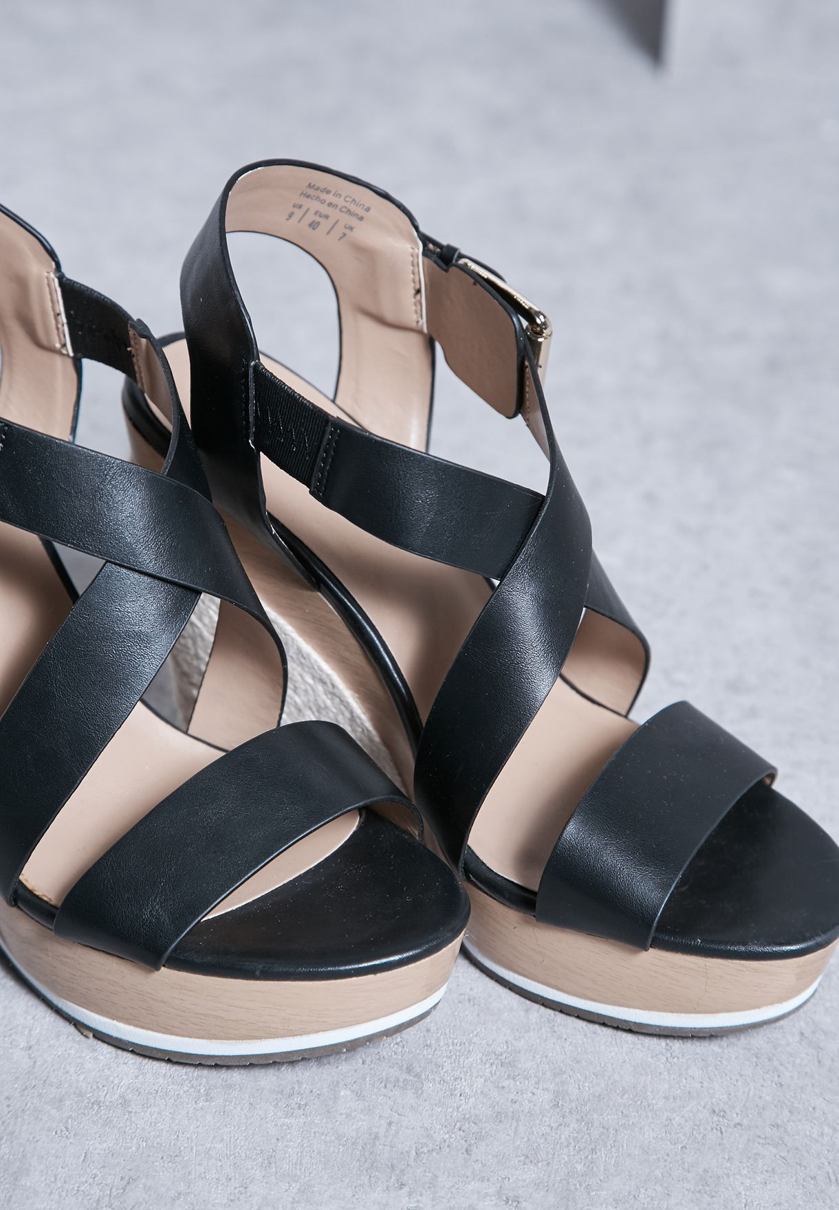 00a3893c0fb844 Shop Call It Spring black Lalisen Wedge Sandals for Women in Kuwait ...