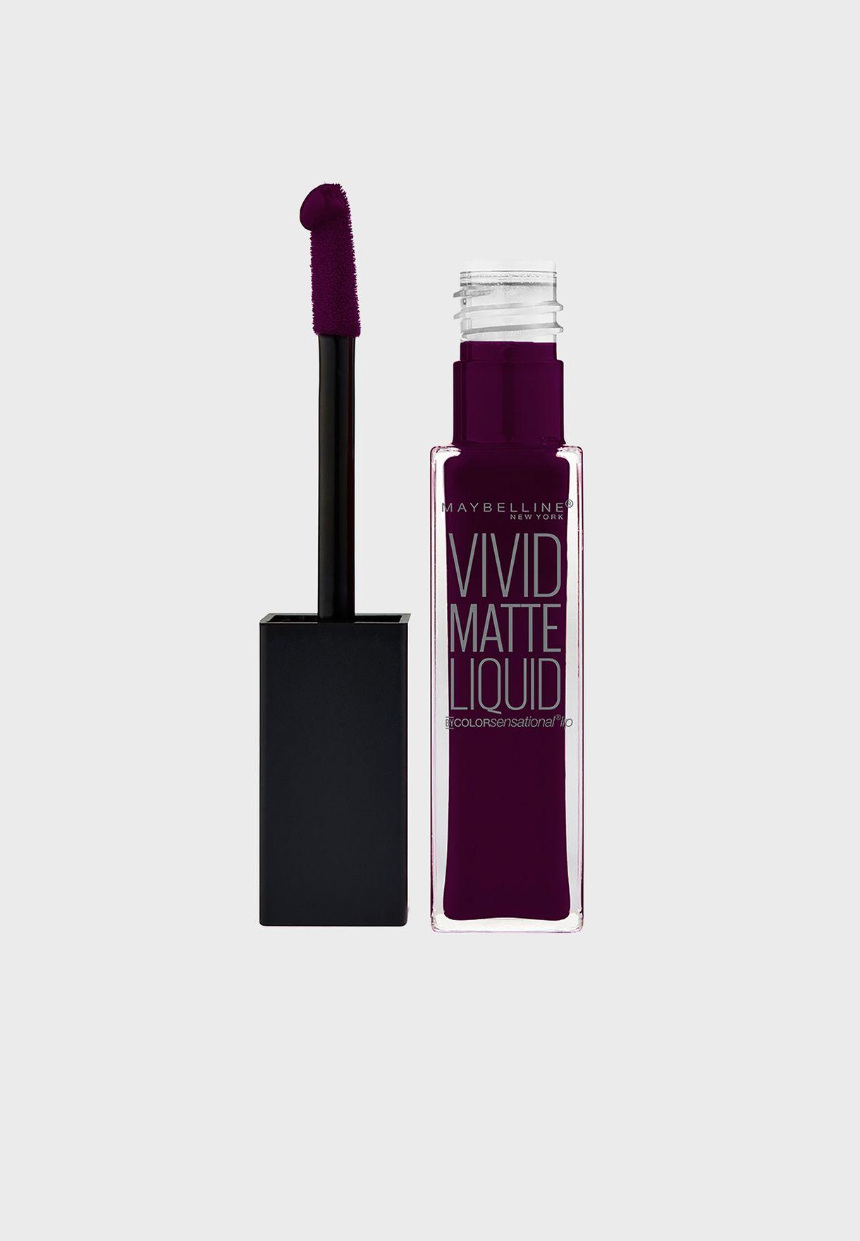 Color Sensational Vivid Matte Lipstick 45 Possessed Plum