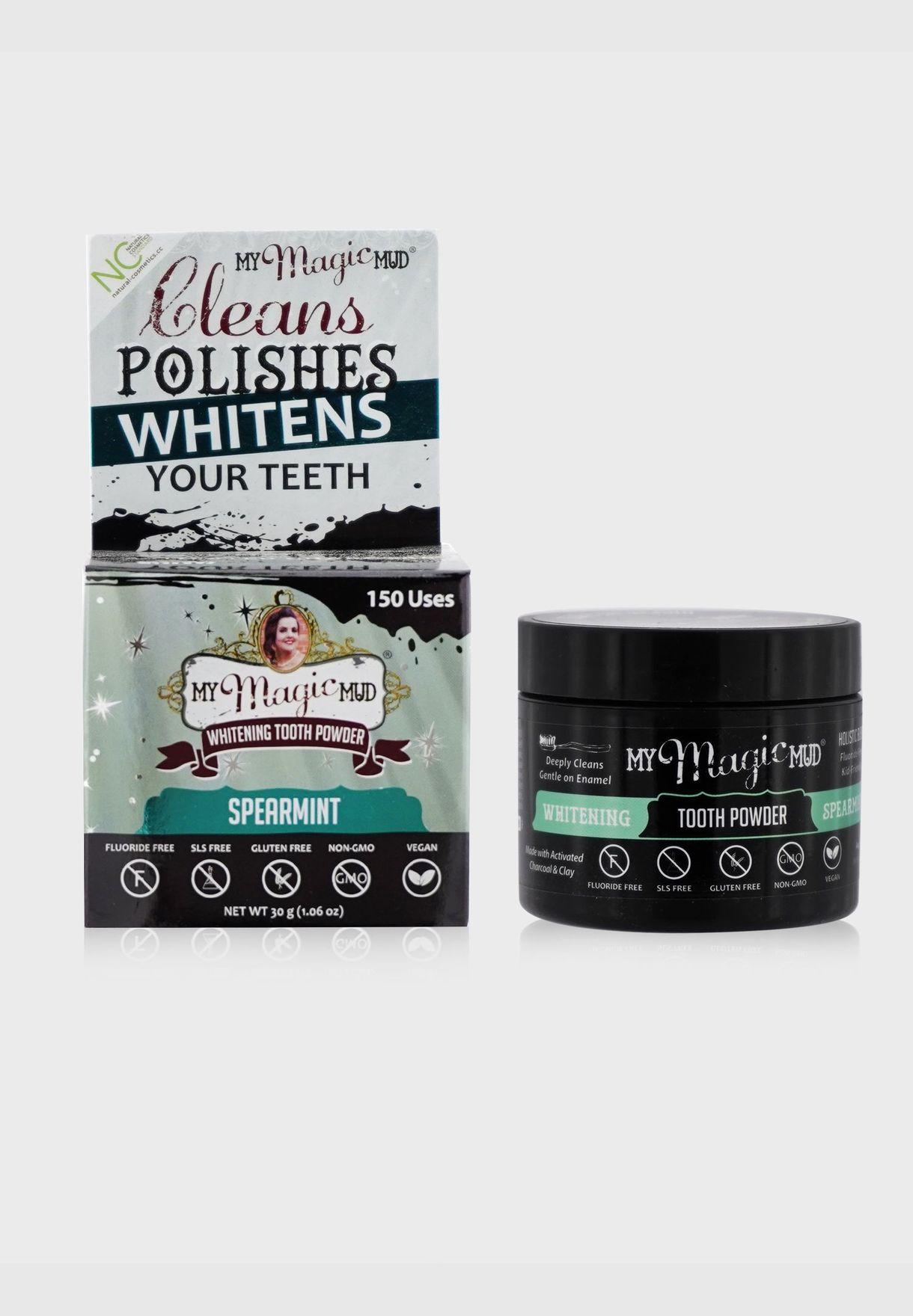 Activated Charcoal Whitening Tooth Powder - Spearmint