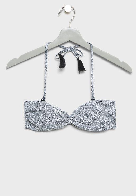 Twisted Halter Bikini Top