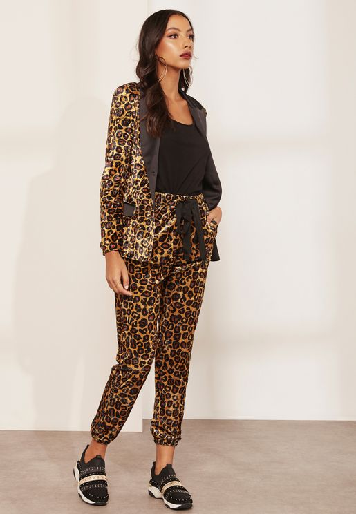 Cheetah Print Straight Leg Pants