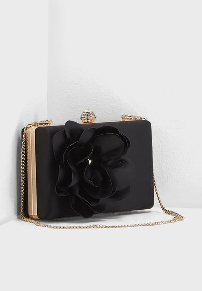 Rose Satin Box Clutch