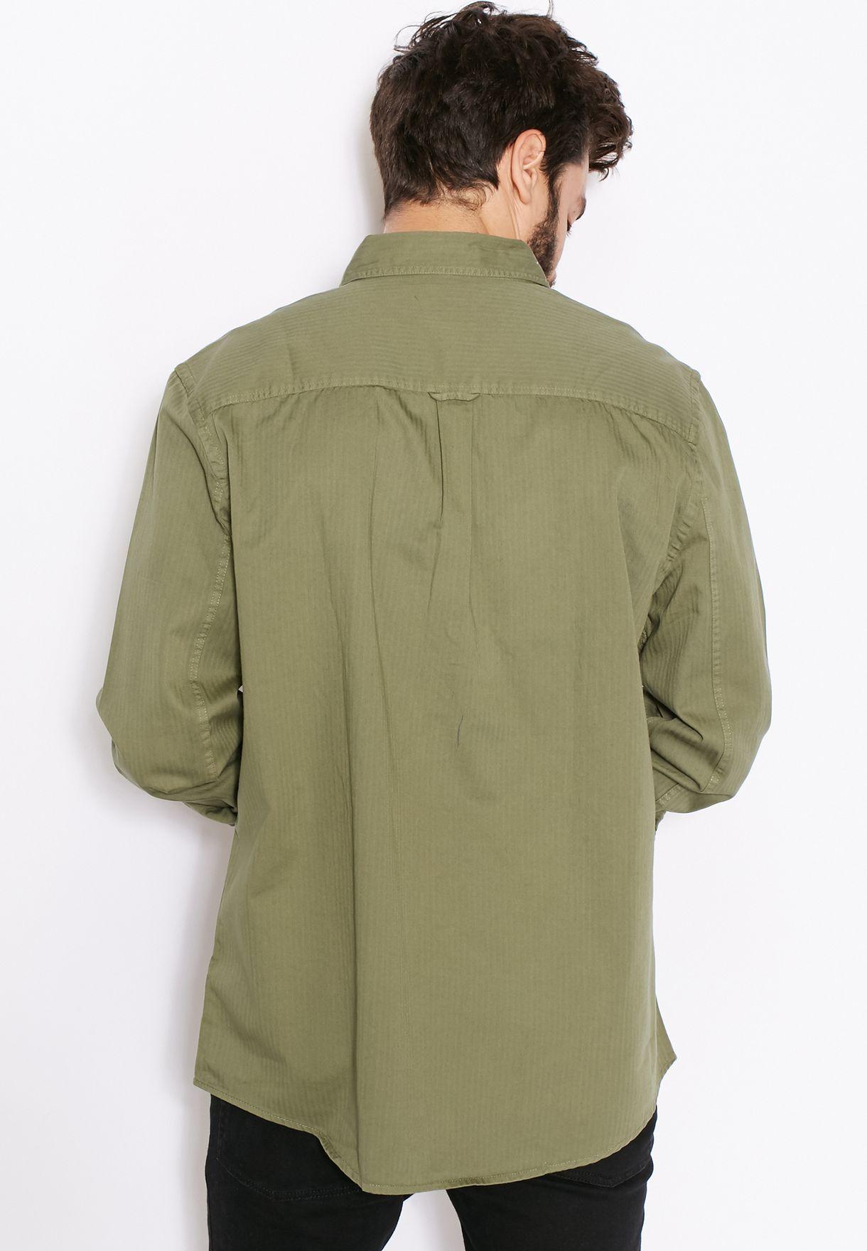 Military Herringbone Shirt