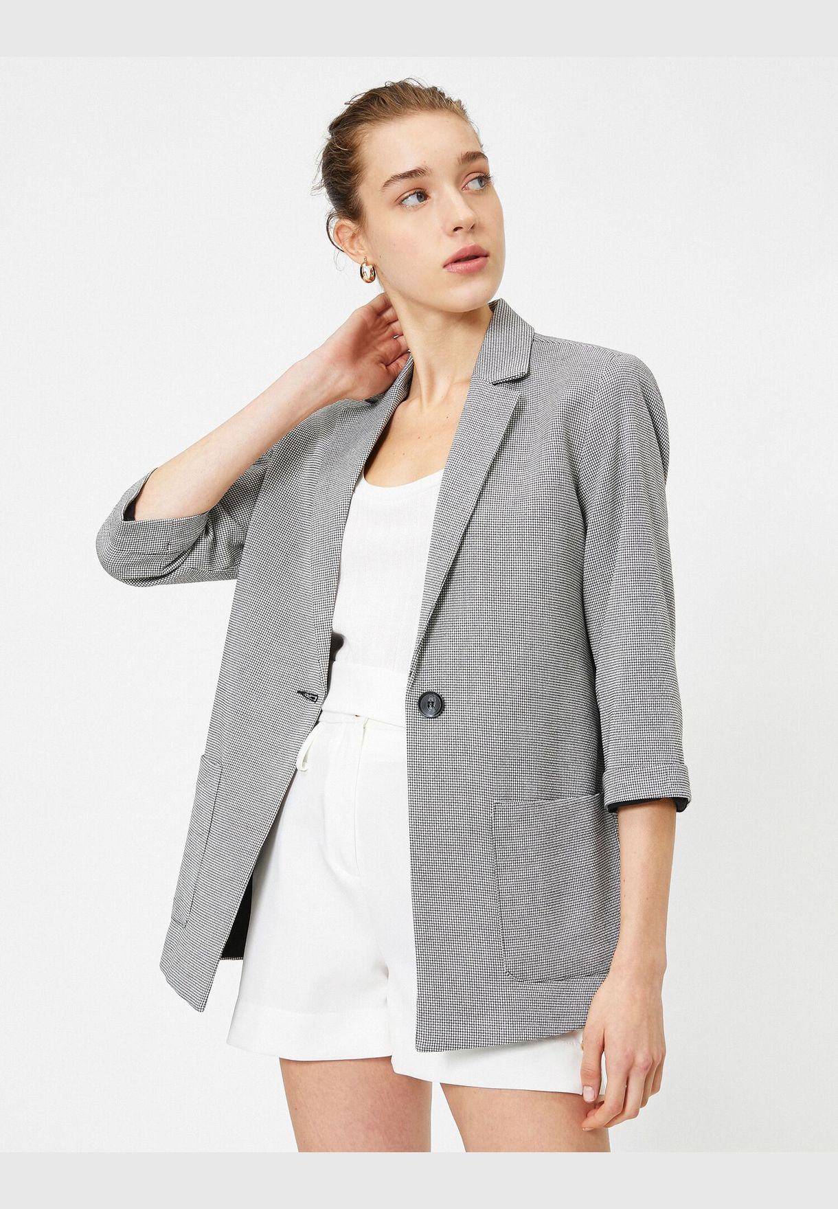 Buttom Detailed Jacket