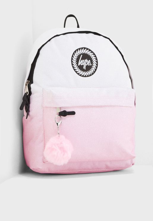 Speckle Fade Pom Backpack