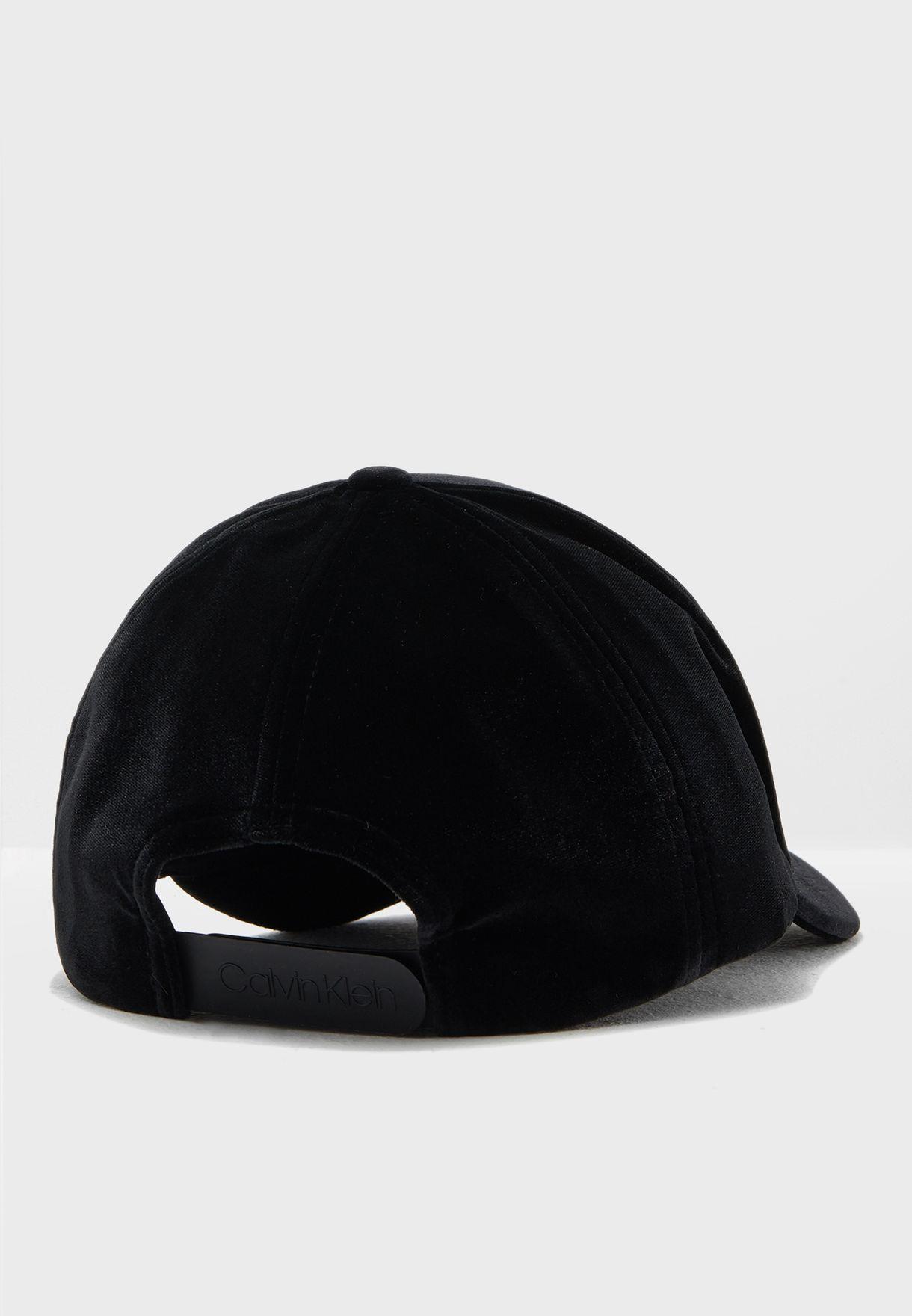 e347d30447e Shop Calvin Klein black Velvet Curved Peak Cap K60K604894 for Women ...