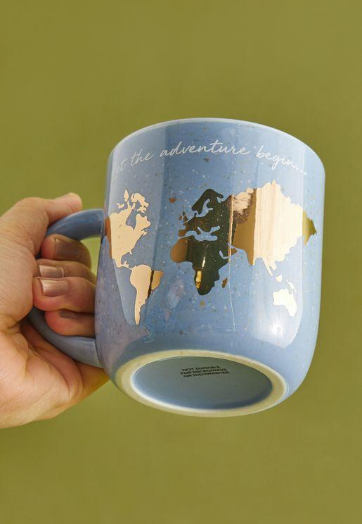 مج بطبعة خريطة العالم