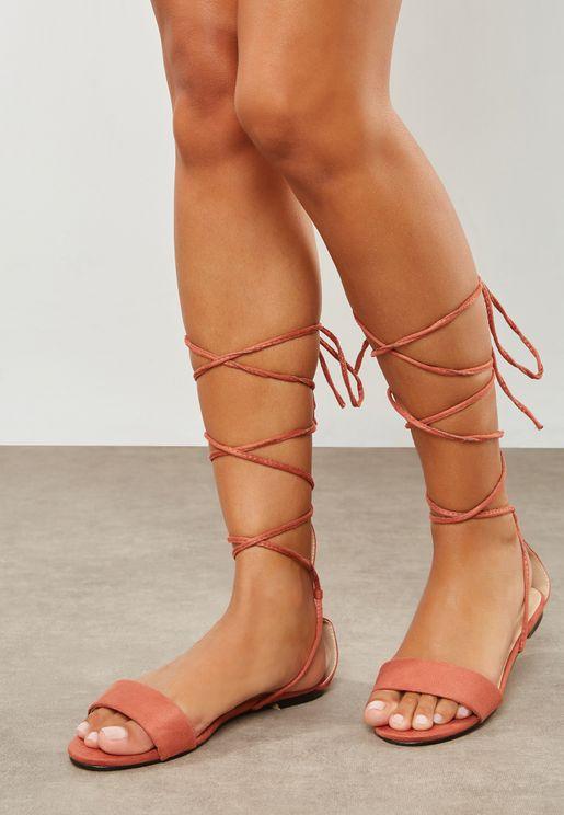 Aaliyah Lace Up Gladiator Sandal