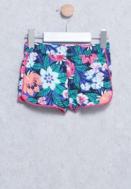 Infant Floral Shorts