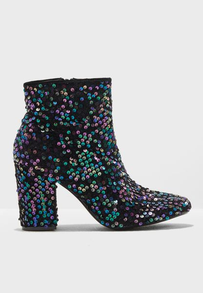 Aries Sequin Embellished Ankle Boot