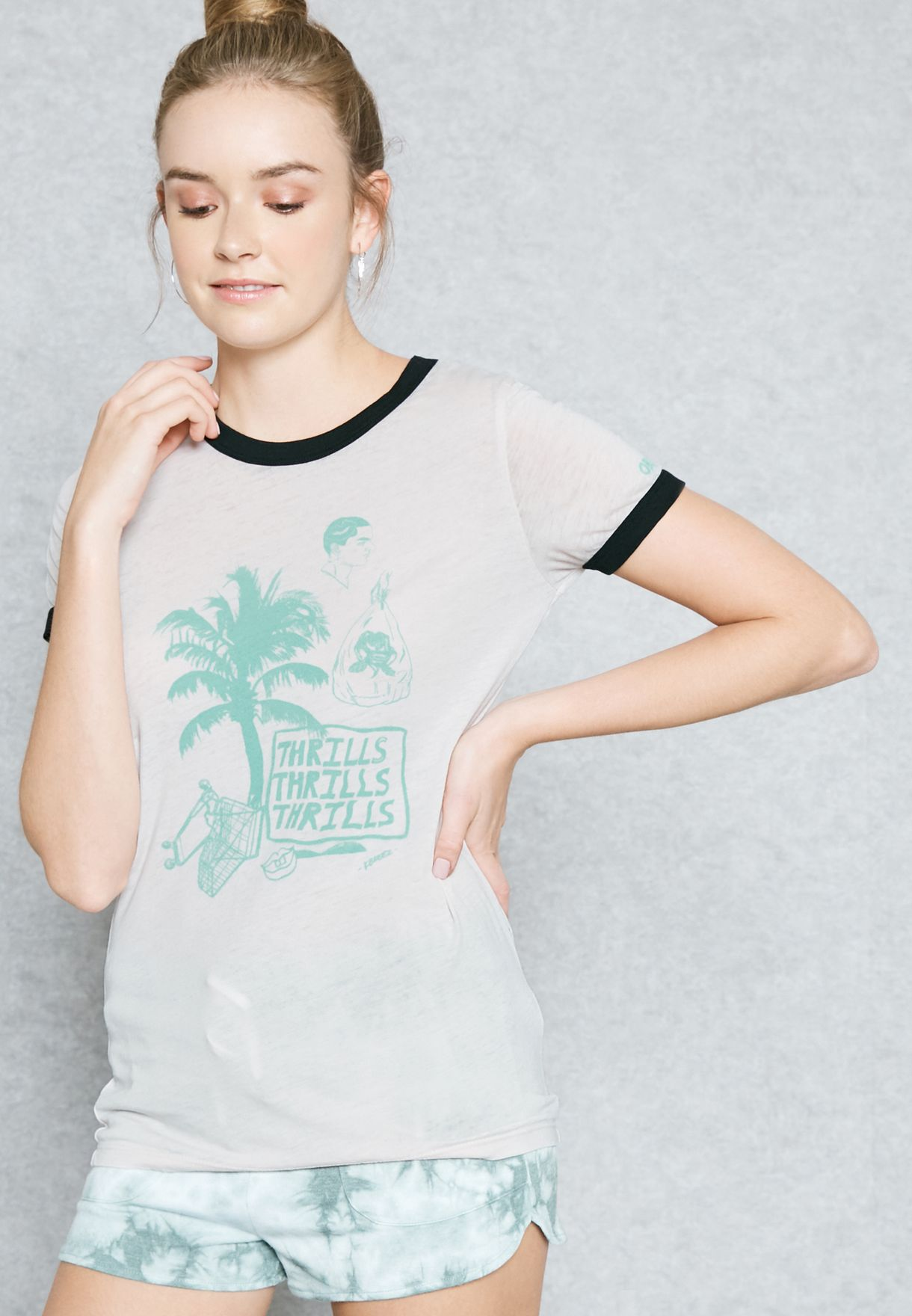 a14b7240d Shop Obey pink Printed T-Shirt 265711146 for Women in Bahrain ...