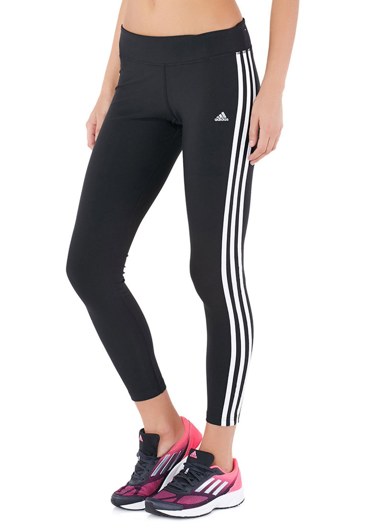 f9dff22ee6f5 Shop adidas black Ultimate Fit 3 Stripes Tights D89633 for Women in ...