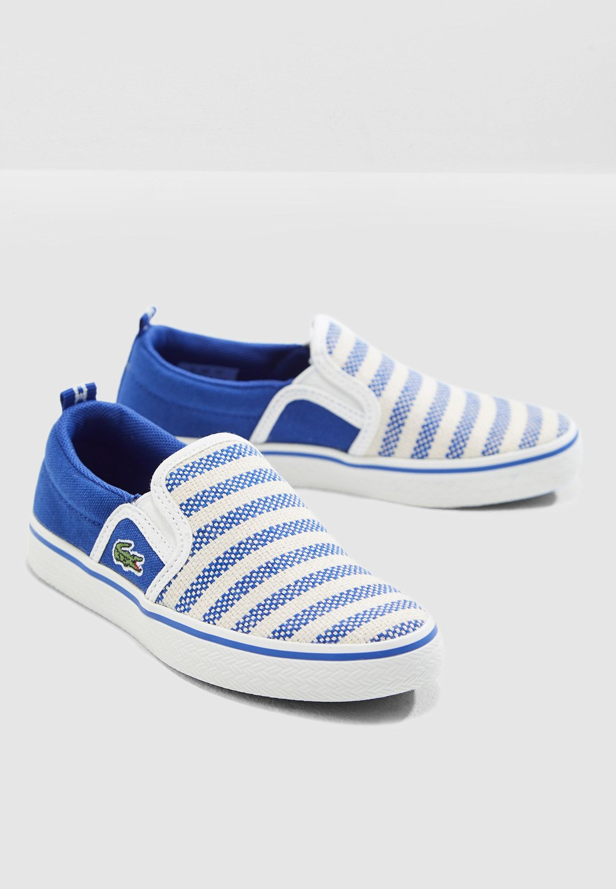 923ce13b2f312b Shop Lacoste blue Kids Gazon 119 1 Slip On 37CUC0005-2M8 for Kids in ...