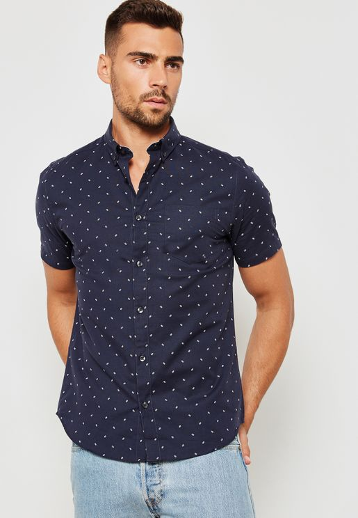 Oxford Mini Geo Print Shirt