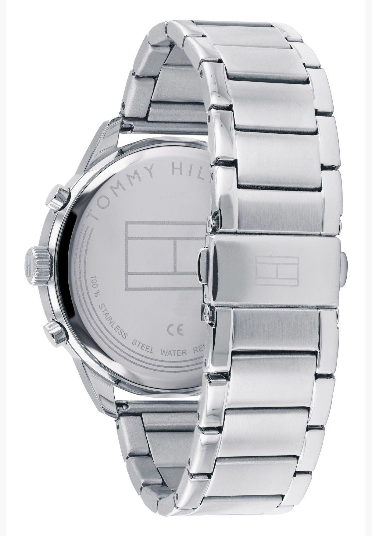 تومي هيلفيغر ساعة تشيس للرجال بسوار معدني - 1791575