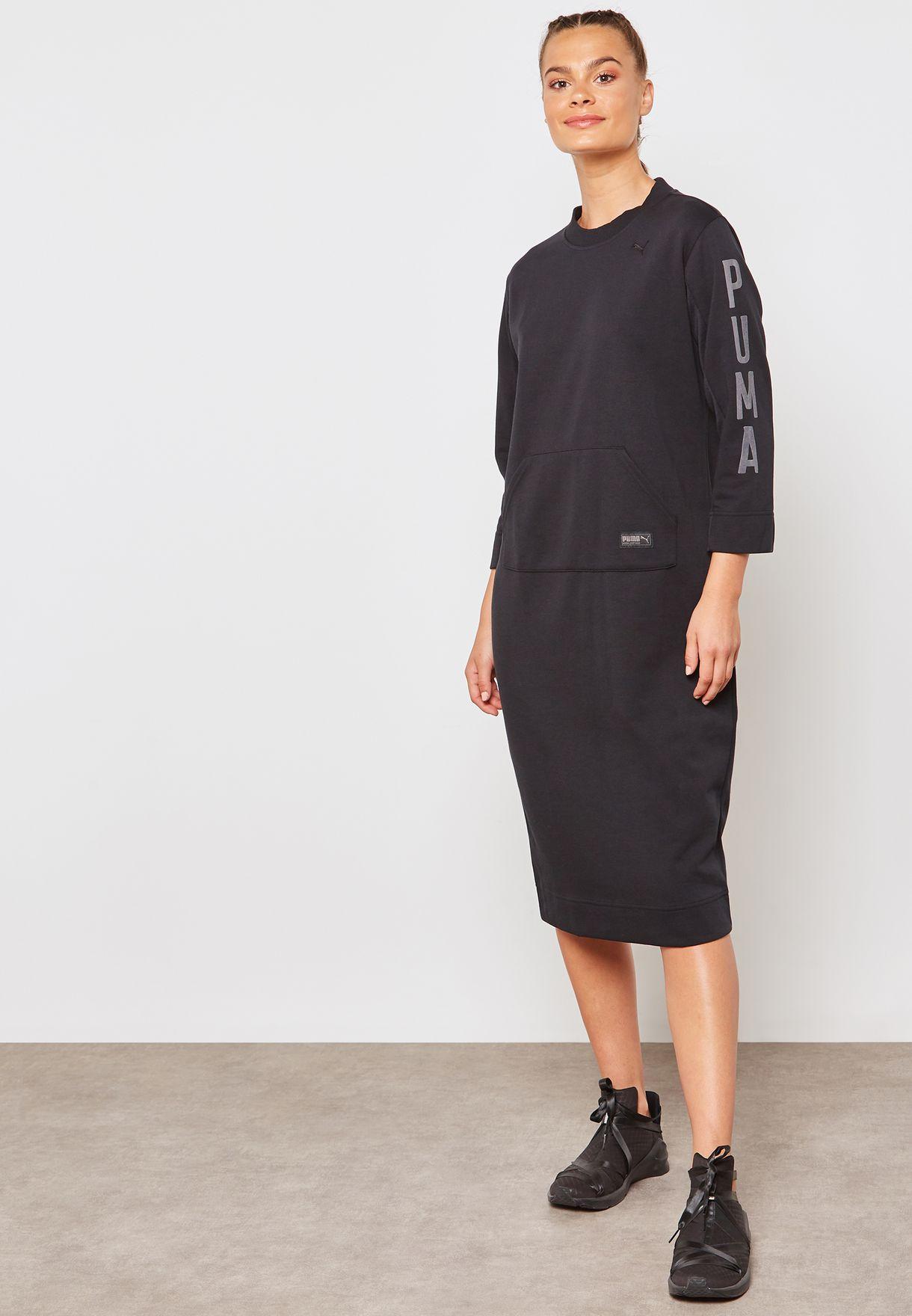 37bbb1f48b17 Shop PUMA black Fusion Dress 85207101 for Women in UAE - PU020AT78DGN