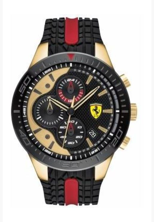 ساعة سكوديريا فيراري ريد ريف بسوار سيليكون للرجال - 830593