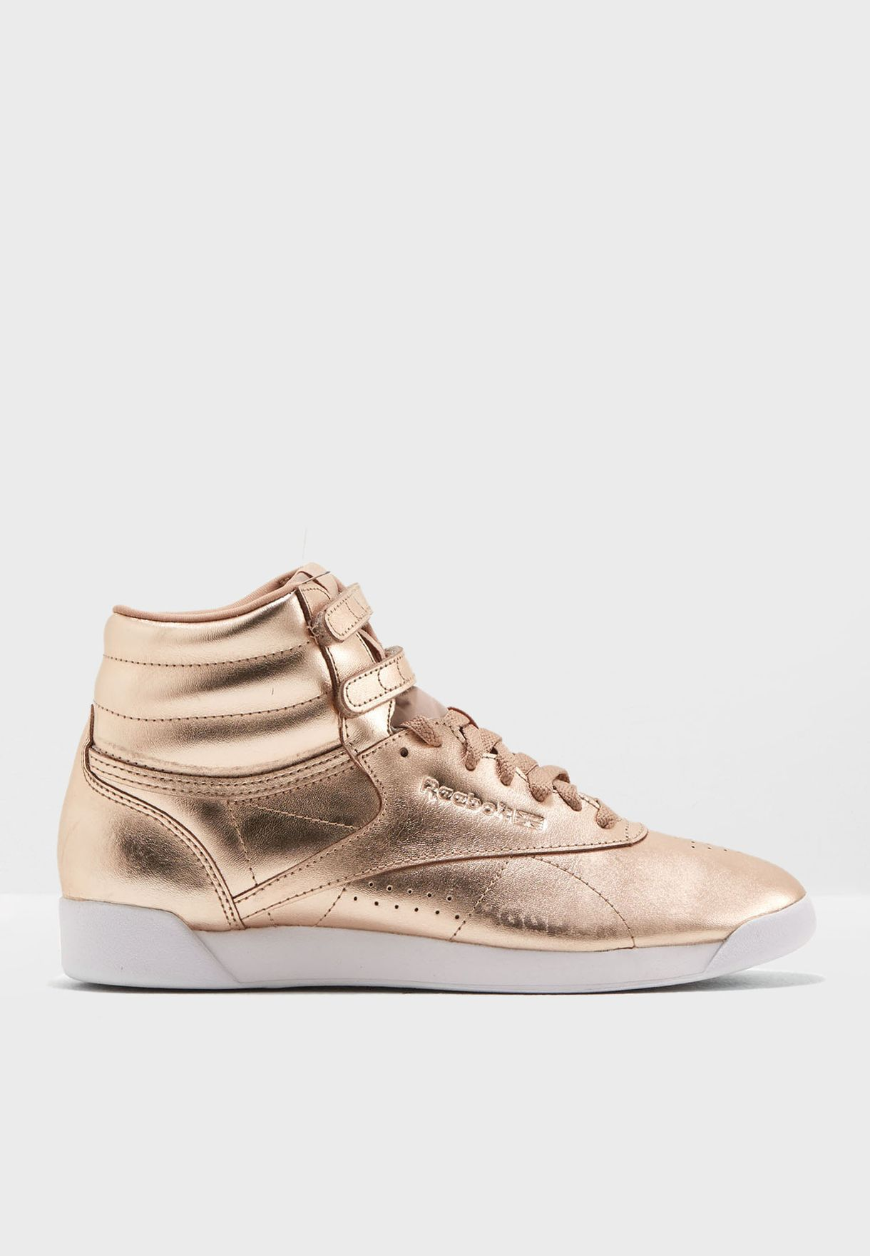 Shop Reebok gold F S Hi Metallic CN0573 for Women in Oman - RE019SH78KQB 8e353248a
