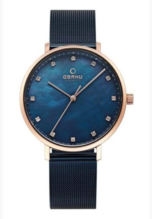 ساعة اوباكو فيست بسوار شبكي للنساء - V186LXVLML