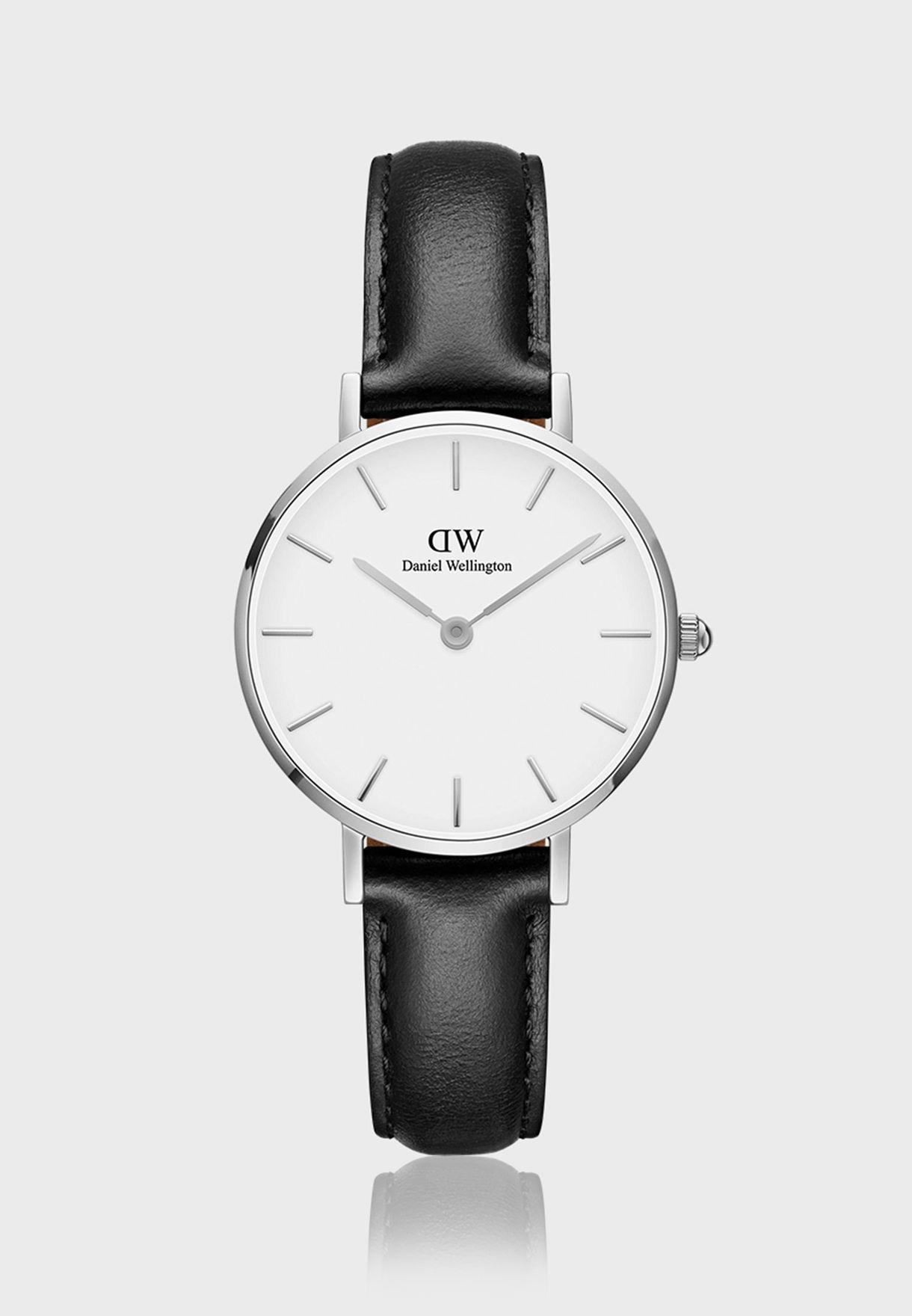 Petite Sheffield Silver White 28mm Watch