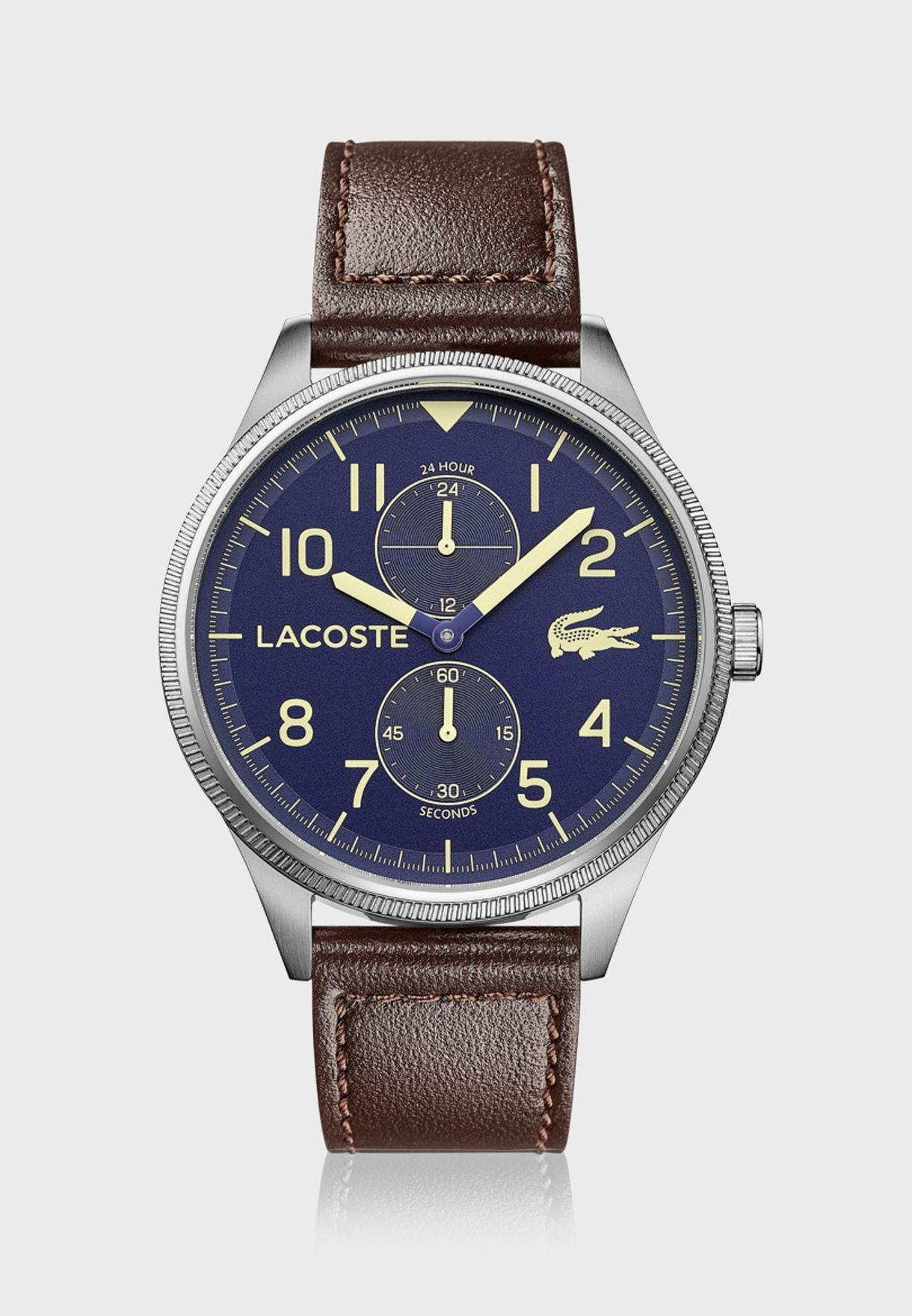 ساعة لاكوست لاكوست كونتيننتال بسوار جلدي للرجال - 2011040