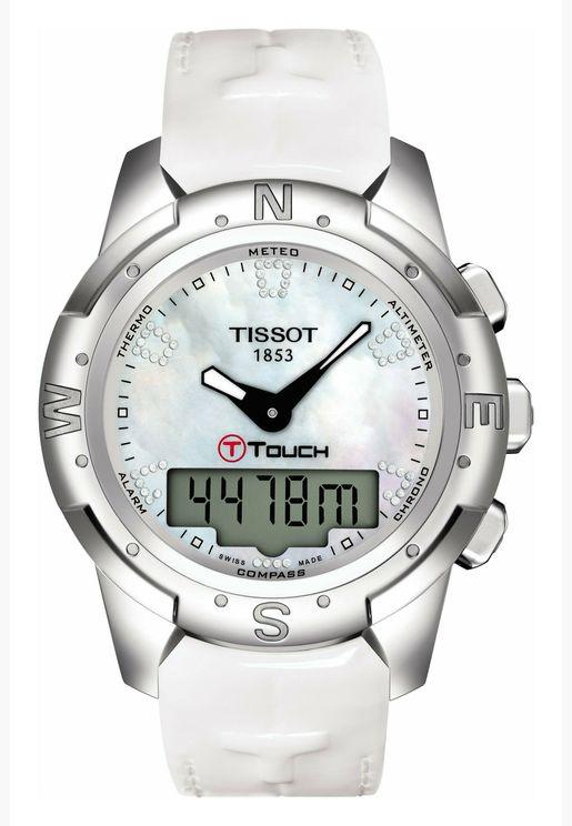 ساعة تيسو تي تتش بسوار جلدي للجنسين - T047.220.46.116.00