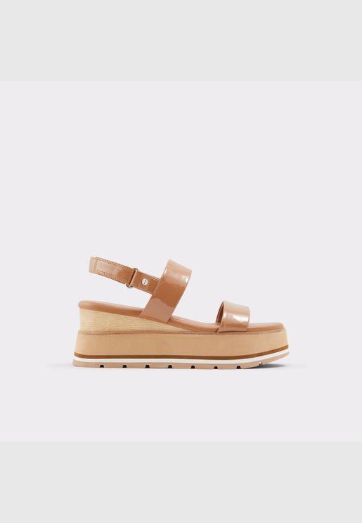 ALDO ONALISA Women Synthetic Leather Shoes Wedge Heel Heel Euro 41 Brown