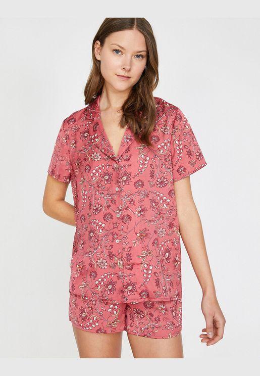 Patterned Pyjama Top