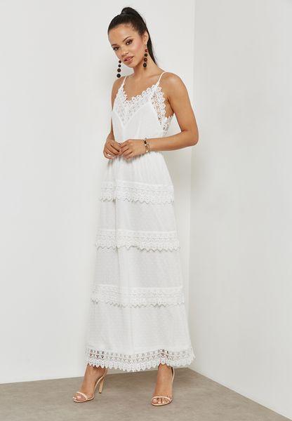 Lace Detail Layered dress
